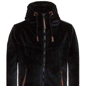Men's thick Naketano velour jacket NWT